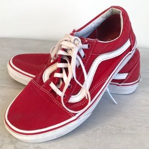 Vans Ward Low Cherry Red 6.5 lace up shoes